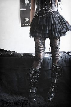 An outfit wish a skirt that I would actually wear.... THIS IS VERY RARE... | For more Goth Love, click here: https://www.pinterest.com/thevioletvixen/goth-love/
