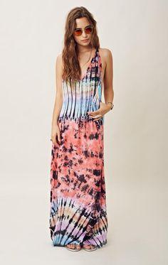 Women's Fashion Indah Tie Dye T-back Maxi Dress