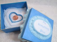Wedding  Something Blue Shower Gift by TheMemoryKeeperShop on Etsy
