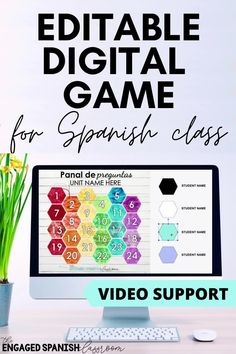 Students love partner games in Spanish class, and now they can play even during remote and hybrid learning! Panal de Preguntas is a digital game where students compete to claim spaces by reading and responding to questions in the target language. Video walkthrough is included to explain how to edit the game board. This bundle includes two completely editable game boards; the original with 15 game spaces as well as a GRANDE version with 24 spaces. Click through to learn more! Spanish Games, Spanish Activities, Hands On Activities, Writing Activities, Learning Spanish, Fun Learning Games, Class Games, Study Spanish, Spanish 1