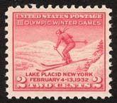 1932 2c Winter Olympics, Lake Placid Scott 716 Mint F/VF NH  www.saratogatrading.com
