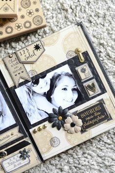 "Mini Album ""Vent de fleurs"" - Le Scrap de Patmiaou Mini Albums Scrap, Mini Scrapbook Albums, Wedding Scrapbook, Travel Scrapbook, Scrapbook Cards, Photo Album Scrapbooking, Scrapbooking Layouts, Tutorial Scrapbook, Memory Album"