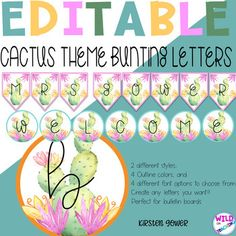 Editable bunting to create any letters you want!!! Choose from a variety of border colors and shapes and choose the font that best suits your classroom style!These are perfect for any bulletin board headings and can be used as welcome signs too! The options are endless and editing these is super ea...