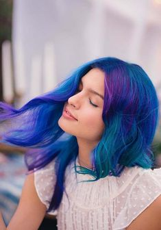 55 Stunning Deep Blue Hair Color Trends for 2018