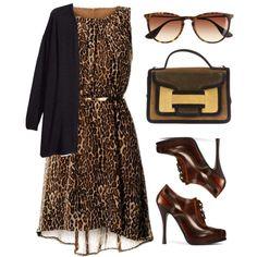 Use my Leopard dress, MK sunglasses, Coach purse.