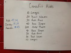 Jumping Lunges CrossFit Posted in CrossFit Kids WOD Leave a comment Kids Gym, Exercise For Kids, Kids Sports, Exercise Activities, Crossfit Kids Workouts, At Home Workouts, Volleyball Workouts, Elementary Physical Education, Family Fitness