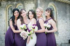 Purple bridesmaids dresses!  SPRINGTIME IN PARIS WEDDING THEME www.elegantwedding.ca