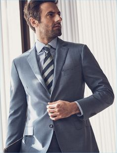 Cutting a sharp figure, Josh Wald wears J. Suit Fashion, Mens Fashion, Corporate Style, Smart Styles, Summer Lookbook, Professional Look, Gentleman Style, Mens Suits, Preppy