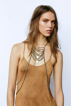 Free People Lost in Labyrinth Body Chain at Free People Clothing Boutique
