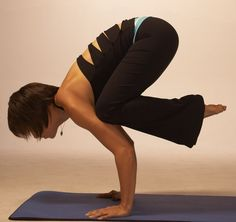 crow pose.  I have done it once- for about 2 seconds!