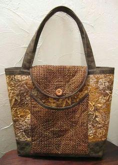 bolso con tapa quilt