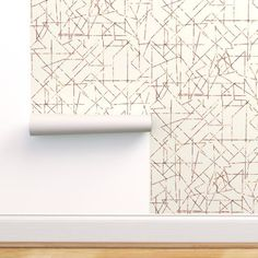 Copper angles, corners and lines custom wallpaper by mlags for sale on Spoonflower
