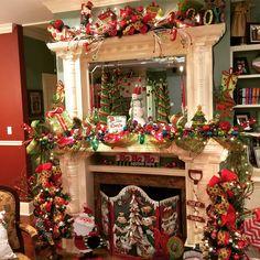 Elf Christmas Tree, Christmas Displays, Christmas Fireplace, Christmas Time Is Here, Christmas Mantels, Christmas Love, Christmas 2017, Christmas Crafts, Christmas Trees