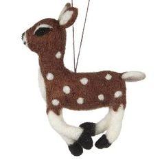 Buy Felt So Good Felt Deer Tree Bauble, Multi | John Lewis