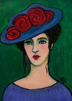 Grace - Original Portrait Painting by Roberta Schmidt - ArtcyLucy on Etsy - SOLD