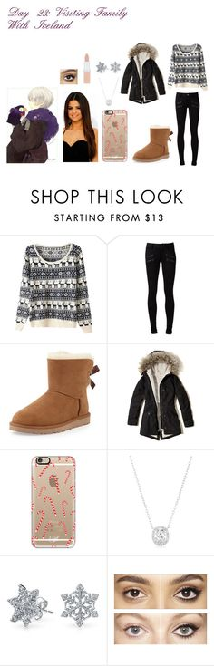 """""""Day 23: Visiting Family With Iceland"""" by yashasreep ❤ liked on Polyvore featuring Paige Denim, UGG Australia, Hollister Co., Casetify, Bling Jewelry, Charlotte Tilbury and Rimmel"""