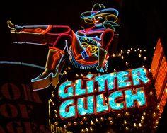 Fine Art Photography Las Vegas Glitter Gulch Neon Vintage Sign