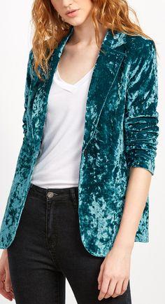 crushed velvet blazer                                                                                                                                                                                 More