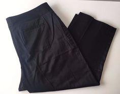 Lane Bryant Women's Totally Cropped Dress Pants NWT Work Pants Black Sz 16 - 213 #LaneBryant #CaprisCropped