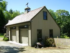Buy a prefab 1 2 or 3 car garage with attic modular two for Carriage shed plans