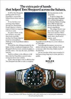 The Rolex Magazine Rolex Vintage, Vintage Watches, Vintage Ads, Vintage Prints, Luxury Watches, Rolex Watches, Cool Watches, Watches For Men, Stainless Steel Rolex