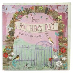 Gate and banner Mother's day card