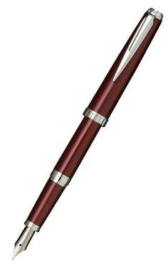Sailor Reglus Bordeaux Fountain Pen with Silver Colour Trim