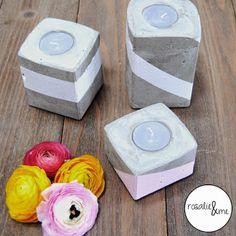 Rosalie&me: ... und noch mehr Beton! // Concrete // Beton // Kerzen // Deko // Crafting // Decoration