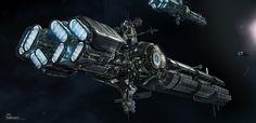 Ender's Game I.F. Interstellar Transport ships by Falarsimons on DeviantArt