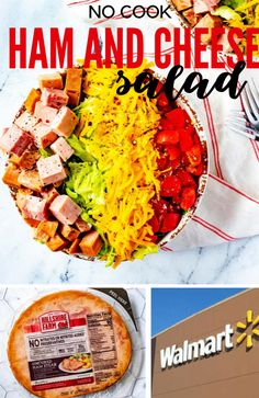 #sponsored Ham and Cheese Salad makes a welcome change to your dinner routine. A sweet dijon balsamic dressing plays perfectly with ham steak, cheddar cheese, and tomatoes. Hillshire Farm Uncured Ham Steak is perfect for no-cook summer meals like this one. You can pick it up at Walmart. #hillshirefarm #walmart #nocook #salad Gluten Free Recipes For Breakfast, Easy Healthy Recipes, Lunch Recipes, Summer Recipes, Salad Recipes, Dinner Recipes, Healthy Meals, Keto Recipes, Ham And Cheese