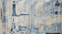 Tapis contemporain TAPIS CONTEMPORAIN SILENCE BLEU/GRIS