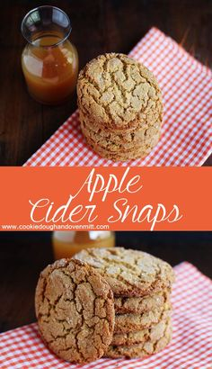 Apple Cider Snaps - cookies from a homemade apple cider molasses. The cookies are crispy, crackly and coated with sugar. Apple cider lovers, you need this