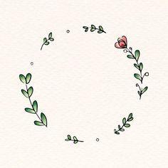 Laden Sie den Premium-Vektor Doodle round floral wreath frame vector 843849 herunter - Bullet journal mood - Blumenkranz - Lilly is Love Doodle Frames, Doodle Art, Bullet Journal Art, Bullet Journal Ideas Pages, Bullet Journal Inspiration, Flower Graphic, Flower Logo, Wreath Drawing, Floral Drawing