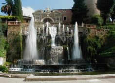 Villa d' Este, Tivoli, one of the prettiest hotel grounds I have ever toured!