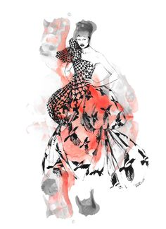 Illustration.Files: Alexander McQueen F/W 2009 Fashion Illustrations by Diana Kuksa | Draw A Dot. on WordPress.com Like this.
