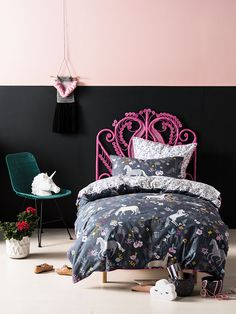 Take a look at the gorgeous bedding from Linen House. Kids Sheets, Duvet Cover Sets, Comforters, Pillow Cases, Warm, Blanket, Pillows, House, Inspiration