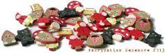 Collection Petit Chaperon Rouge en boutons - fabrication Décembre 2013