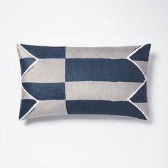 Velvet Offset Stripe Pillow Cover - Blue Lagoon x cotton velvet, viscose in Blue Lagoon Bed Throws, Couch Pillows, Accent Pillows, Interior Design Atlanta, Bachelor Pad Decor, Striped Cushions, Modern Pillows, Blue Lagoon, Decorative Pillow Covers
