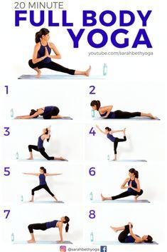 Click through for the FREE video to practice this 20 minute Full Body Yoga Flow. An intermediate vinyasa yoga flow that'… Vinyasa Yoga, Yoga Bewegungen, Ashtanga Yoga, Men Yoga, Pilates Yoga, Iyengar Yoga, Pilates Reformer, Kundalini Yoga, Yoga Meditation