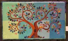 """Treedom"" art quilt by Alexandra Zamar. Photo by Cathy Geier. International Quilt Festival, Tree Quilt, Applique Quilts, Art Blog, Needlework, Kids Rugs, Joy, Embroidery, Quilting"
