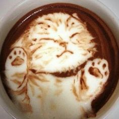 The Most Satisfying Cappuccino Latte Art - Coffee Brilliant Coffee Latte Art, Coffee Cafe, Coffee Drinks, Coffee Shop, Cappuccino Art, Drinking Coffee, Coffee Mugs, Cute Food, Yummy Food