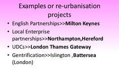Examples or re-urbanisationprojects• English Partnerships>>Milton Keynes•…