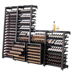 Wine storage systems, units : Wine rack and wooden wine storage - EuroCave Cave A Vin Design, Wine Away, Wine Rack Storage, Wine Racks, Deco Restaurant, Home Wine Cellars, Wine Cellar Design, Sliding Shelves, Pallet Furniture