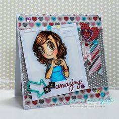 I Heart U Gwen New Release #thezadisproject #cardmaking #someoddgirl
