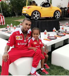 'World's best dad': Kylie and her rapper beau Tyga threw a Ferrari-themed birthday party for his son, King Cairo, who turned four on Sunday Kylie Jenner, Tyga And Kylie, Cute Family, Baby Family, Beautiful Family, Family Goals, Rapper, Divorce And Kids, Blac Chyna