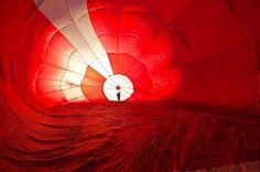 teplovzdušný balón z vnútra