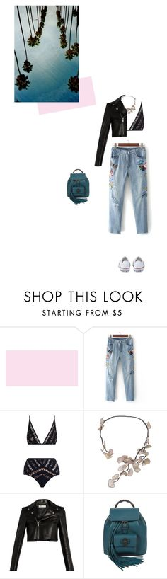 """""""..."""" by sunshiiine ❤ liked on Polyvore featuring Zimmermann, Uzerai Edits, Yves Saint Laurent, Gucci and Converse"""