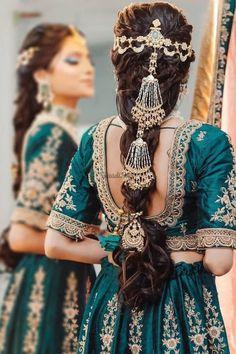 New Bridal Hairstyle, Bridal Braids, Indian Wedding Hairstyles, Bride Hairstyles, Easy Hairstyles, Mehndi Hairstyles, Bollywood Hairstyles, Engagement Hairstyles, Headband Hairstyles