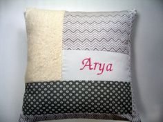 Baby girl patchwork personalized custom pillow