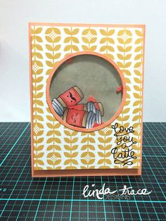 Lawn Fawn - Love You a Latte _ super fun shaker card by Linda via Flickr - Photo Sharing!